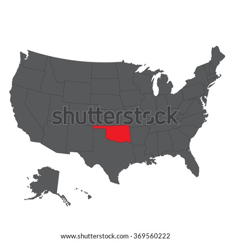 Oklahoma State Stock Images RoyaltyFree Images Vectors - Oklahoma usa map