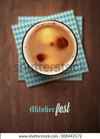 Oktoberfest, beer festival, eps 10 - stock vector