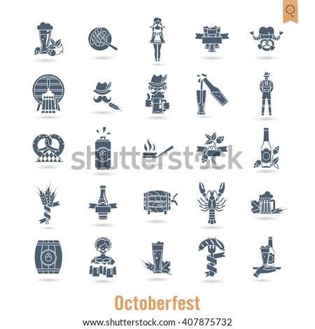 Oktoberfest Beer Festival. Flat design style. Vector - stock vector