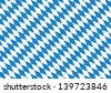 Oktoberfest blue checkered background - stock vector