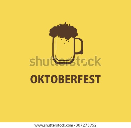 Oktoberfest monogram icon with beer mug for your logo design.Vector illustration. - stock vector