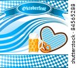 Oktoberfest Party invitation - vector illustration - stock photo