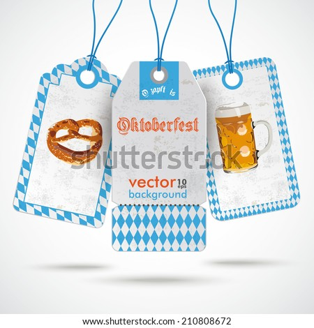 """Oktoberfest price sticker on the white background. German text """"O���´zapft is"""" and """"Oktoberfest"""", translate """"on tap"""" and """"Oktoberfest"""".Eps 10 vector file. - stock vector"""