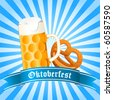 Oktoberfest - vector illustration - stock photo