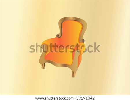 old armchair ( Background on separate layer ) - stock vector