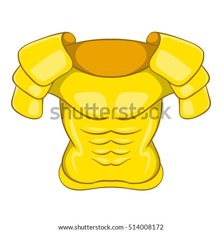 Old armor icon. Cartoon illustration of old armor vector icon for web