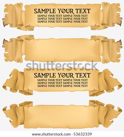 Old banner vector for decoration and design - stock vector