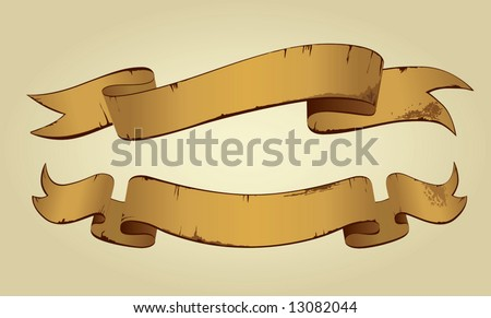 Old Banners (vector). In the gallery also available XXL jpeg image made from this vector - stock vector