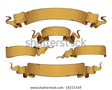 Old Banners(vector). In the gallery also available XXL jpeg image made from this vector - stock vector