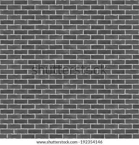 Old black brick wall, vector eps10 illustration - stock vector