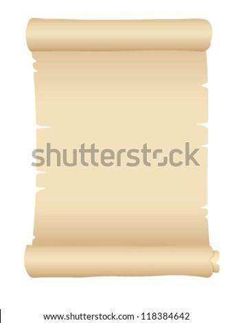old blank scroll paper - vector illustration - stock vector