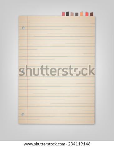 Old Bookmark Paper Vector  - stock vector