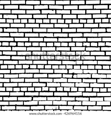 Old brick wall background. Grunge vector pattern. Design illustration. - stock vector