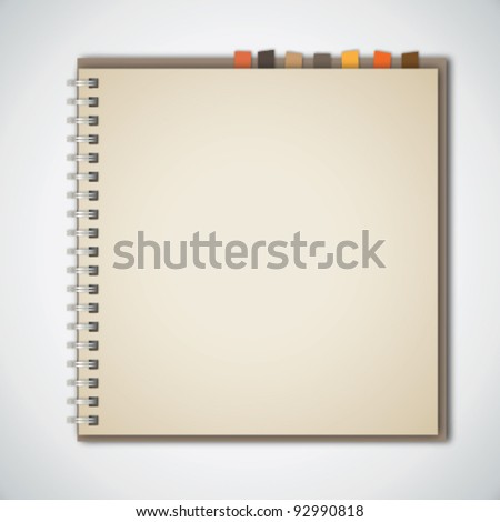 Old Brown Notebook Vector - stock vector