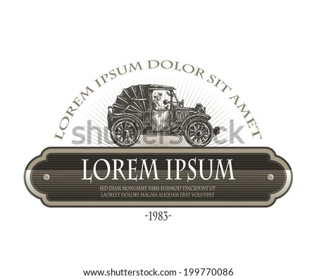 Old car. Vector format - stock vector