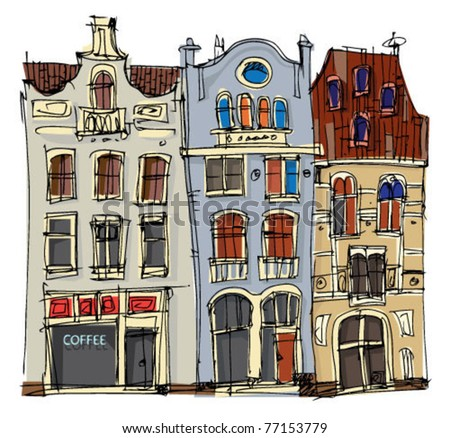 old city facades