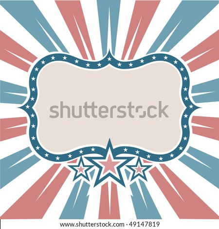 Old Colors American Frame - stock vector