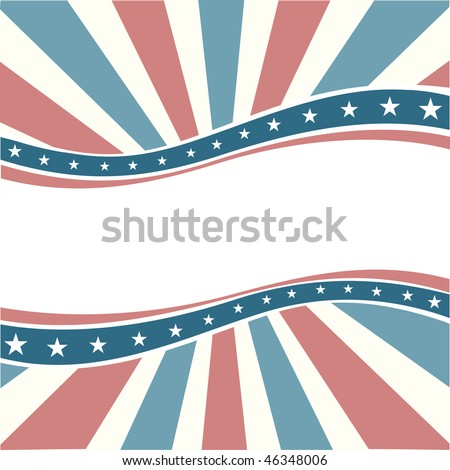 Old Colors American Wave Background - stock vector