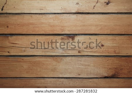 old dirty wooden wall, vector