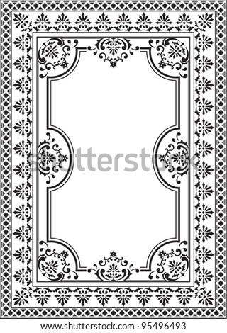 Old elegance picture on white - stock vector