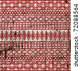 Old ethnic fabric texture - stock