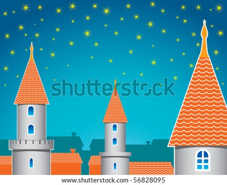 Old fairy kingdom - stock vector