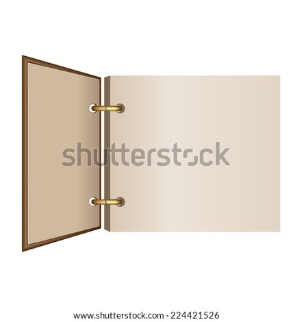 Old-fashioned album isolated on white background - stock vector