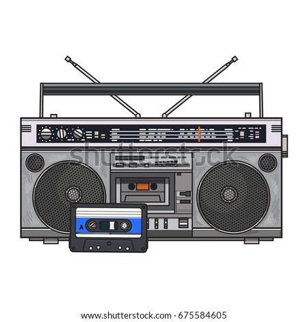 Old fashioned tape recorder 38