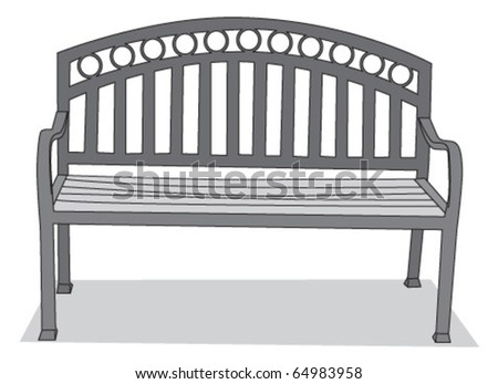 Old fashioned Iron Bench - stock vector