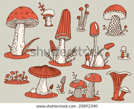 Old-fashioned mushrooms