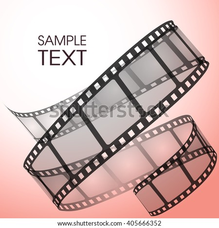 Old film strip - stock vector