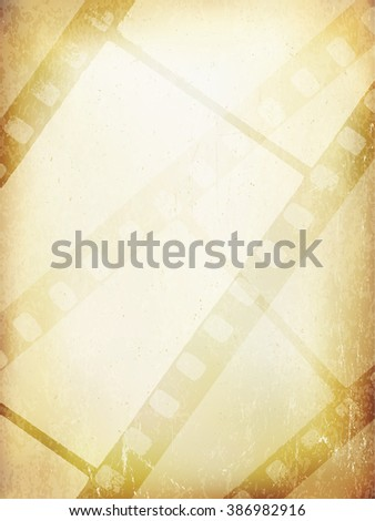 Old Filmstrip Abstract Background. Vector Template - stock vector