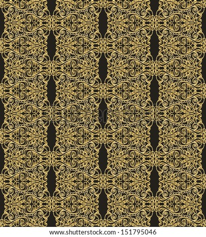 old golden seamless pattern