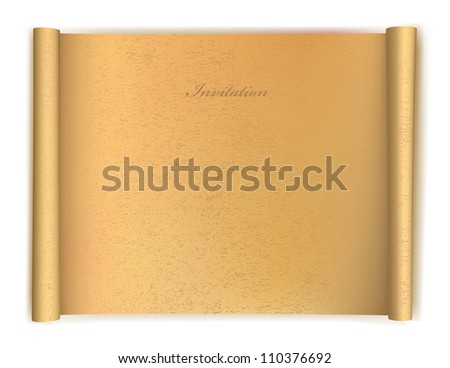 Old grunge Paper Scroll. Vector illustration - stock vector