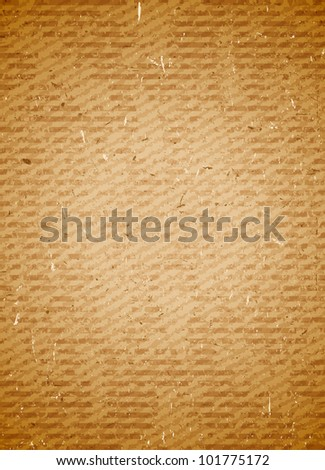 Old grungy rugged and scratched cardboard background - stock vector