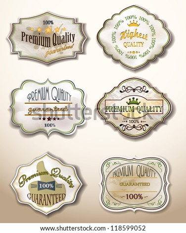 Old Labels Collection - stock vector