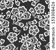 Old lace seamless pattern, ornamental flowers. Vector texture. - stock vector