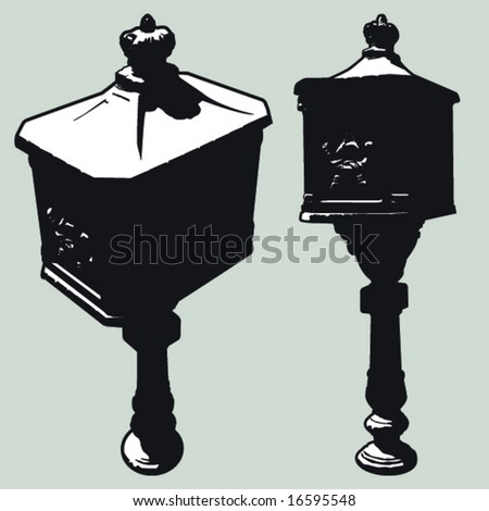 old mailbox - stock vector