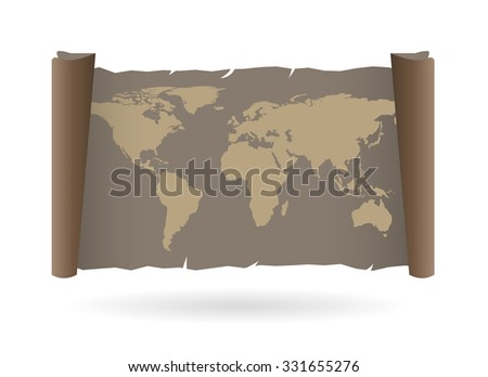 Old Map. Vector Paper texture.  - stock vector