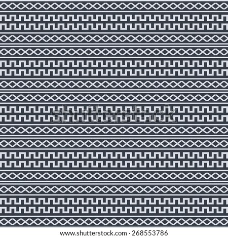 old native pattern - stock vector