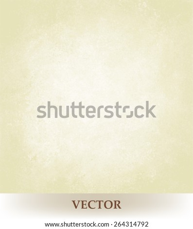 old paper background vector, white or pale gold beige neutral color design, vintage grunge texture - stock vector
