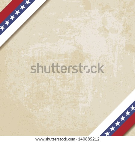 old paper background with striped ribbons - vector illustration - stock vector