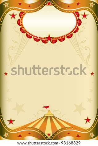 Old Paper Circus. Old paper circus with a big top for a poster. - stock vector