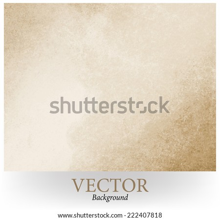 Old Paper Rustic Brown Grunge Background With Darker Grungy Border And Vintage Texture Design