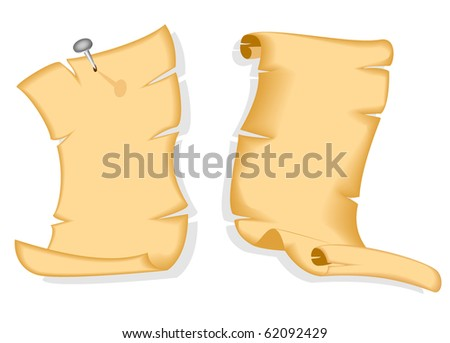 old paper scrolls - stock vector