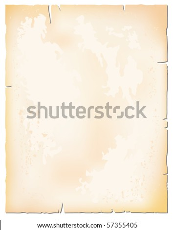 Old paper sheet - stock vector