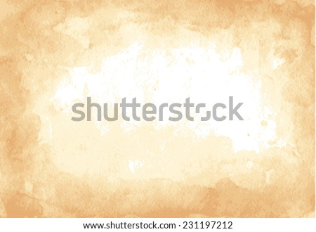 Old paper sheet. Grunge texture. - stock vector