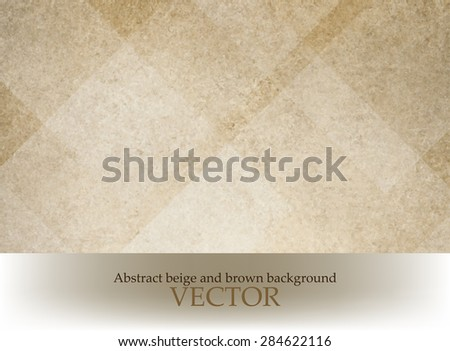 old paper texture vector. brown background with white abstract diamond shapes in parchment texture. - stock vector
