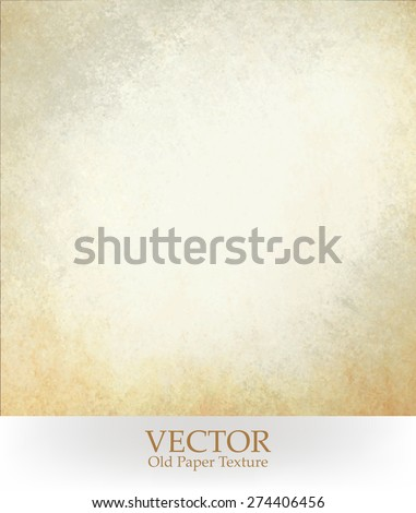 old paper texture vector. white background with yellowed stained border. - stock vector