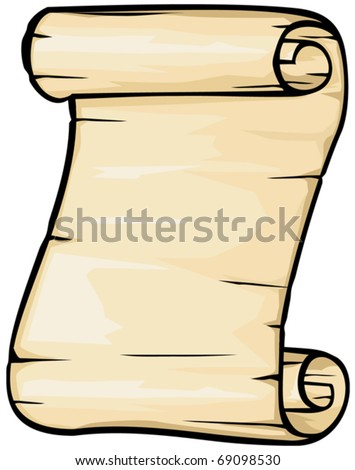 Old paper vector (Old roll) - stock vector